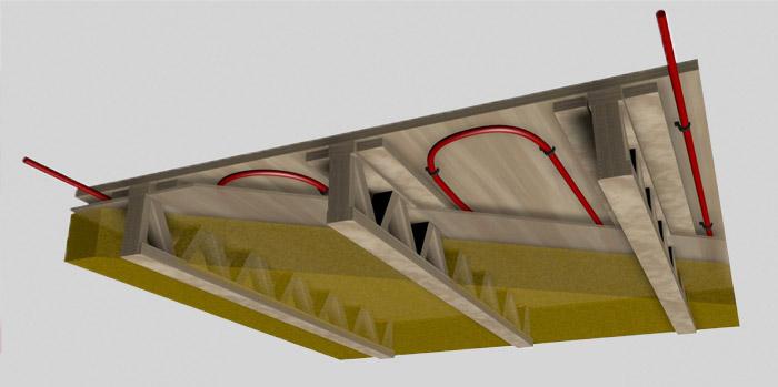 isolation entre solives plancher placer la rgle mtallique. Black Bedroom Furniture Sets. Home Design Ideas